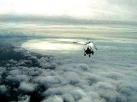 ULM sur un tapis de nuages