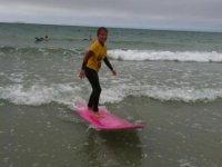 Premier cours de surf a Perros Guirec