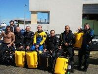 Les membres du club et la plongee tek