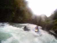 kayak raft au Gave du Larrau
