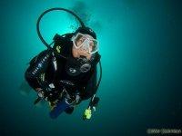 Plongee sous marine au pied des pyrennees