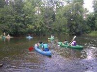 Canoe seul en groupe ou en famille