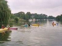 Groupe de canoes en Charente