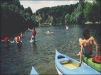 Plongeon durant la descente canoe
