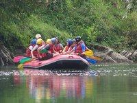 Passage rafting plus calme