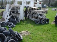 Le terrain de paintball