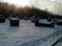 Le terrain en hiver