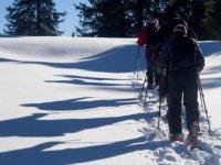 Vers les cretes des Alpes en raquettes