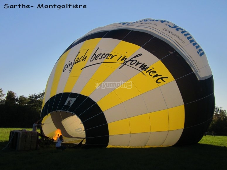 Vol Exclusif Sarthe Montgolfiere