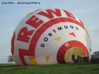 Rassemblement de montgolfieres sur le canton la Charte sur le Loir