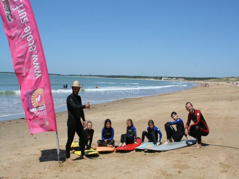Cours de surf avec Manusurf
