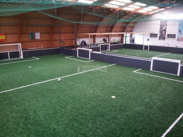 2 terrains de foot en gazon synthétique