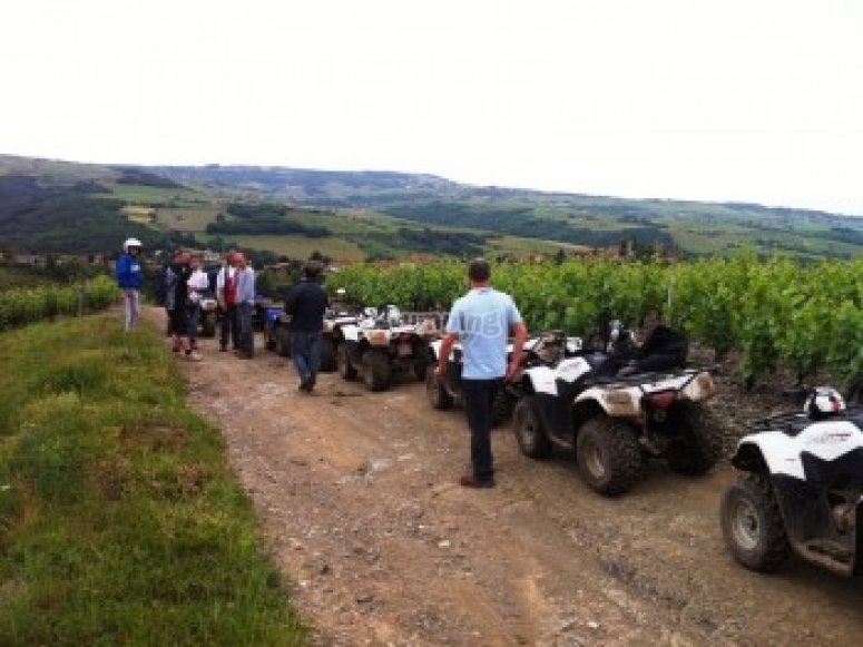 Vive le quad dans le Beaujolais