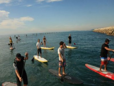 Surfing Soulac Paddle Surf