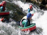 rapide des 3 vagues en hydrospeed ou nage en eau vive sur la Nive à Bidarray au pays basque