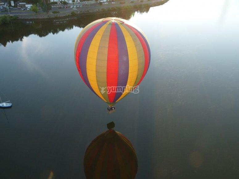 Bapteme montgolfiere proche de Dijon