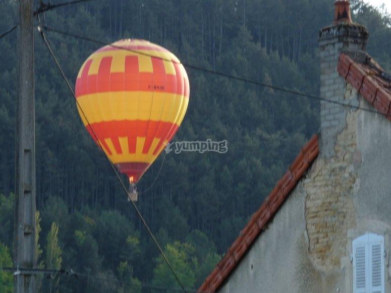 Au dessus des villages de Bourgogne