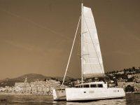 Balade en mer sur un catamaran