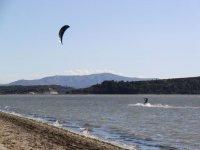 A fond sur l eau en Kite Surf