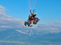 Vol parapente en tandem et chaine du Mont Blanc