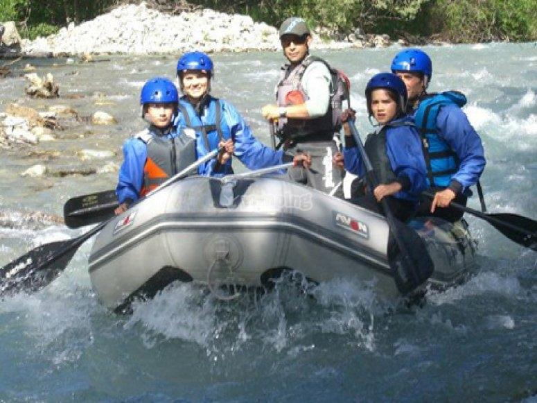 rafting en famille sur la Guisane