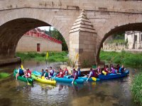 Canoe en groupe en Bourgogne