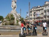Ecusson Montpellier en Segway