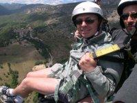 Bapteme de parapente biplace dans les Alpes Maritimes