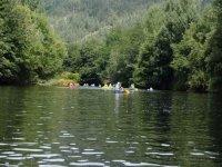 Canoe en groupe sur la Dordogne