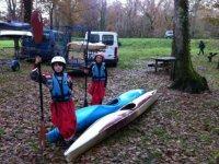 kayak enfant dans le 33