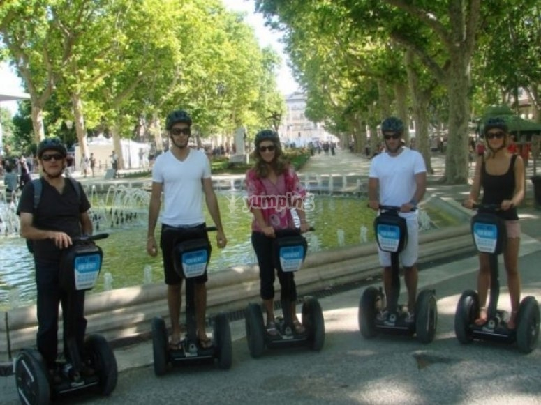 Plus beaux sites de Montpellier en Segway