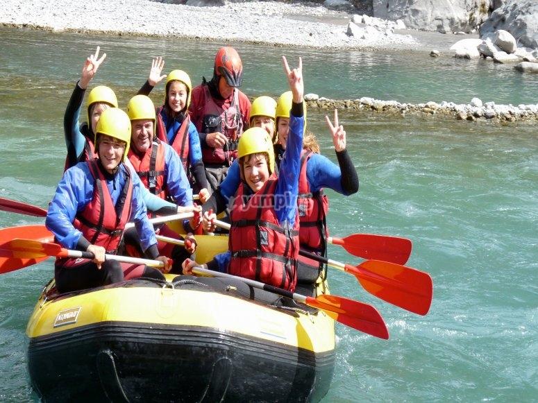 Rafting près de Barcelonnette