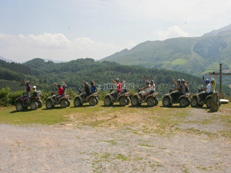 Randonnee quad a la journee dans le Pays Basque