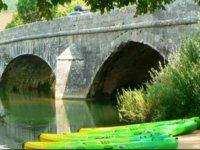Canoes au depart