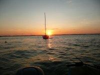 Peche au coucher du soleil