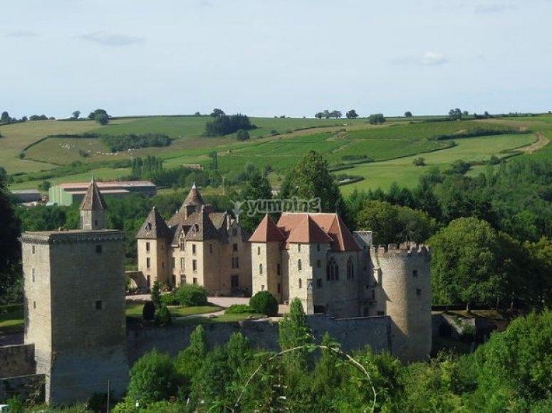 Vue sur le château de Couches.