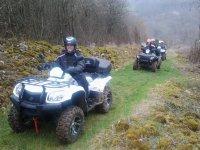 Faire du quad biplace sur differents terrains en Saone et Loire
