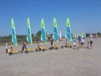 Char a Voile a la plage des Coussoules avec le CVCL