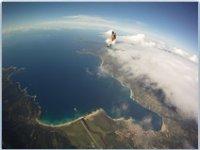 Saut en parachute au dessus de la Corse