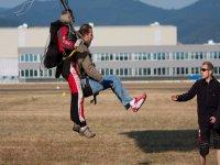 Atterrissage en douceur avec moniteur diplome d etat Alsace Parachutisme