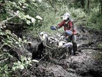 Quad dans la boue