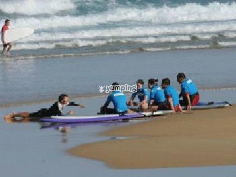 Apprentissage du surf 1er jour