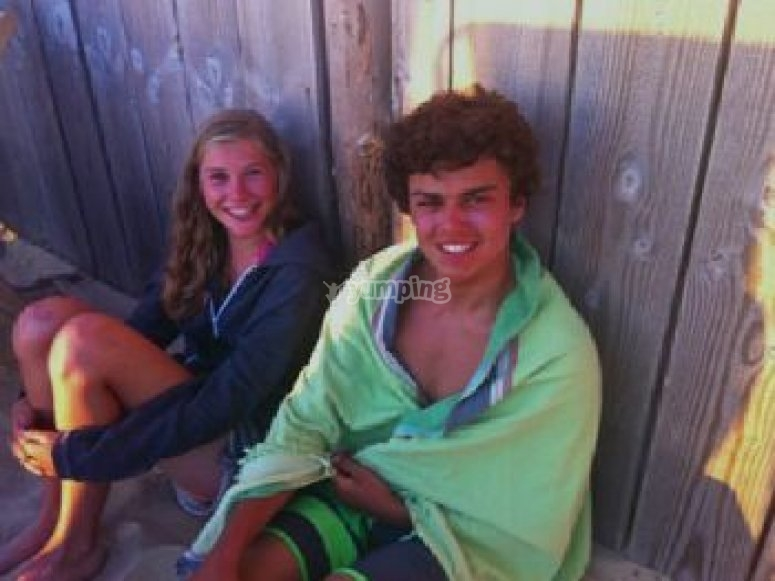 Stage de surf adolescents