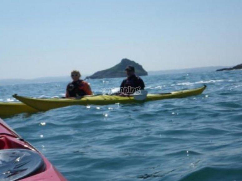 balade kayak en mer