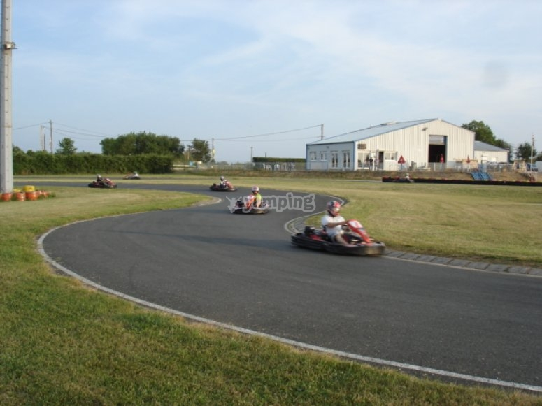 Course de karting entre amis