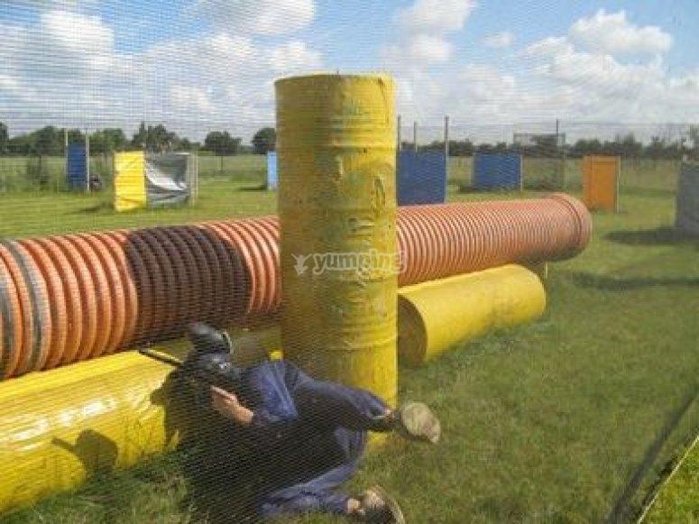 Obstacles sur le terrain