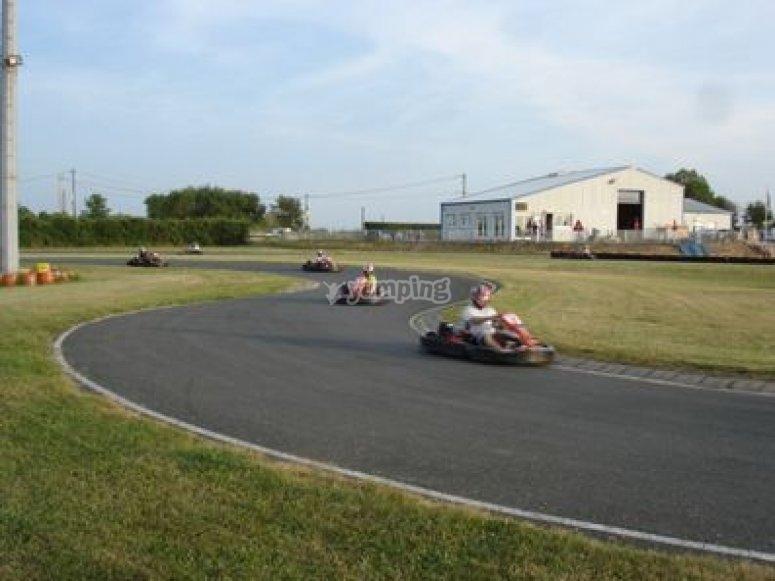 Essai et course karting