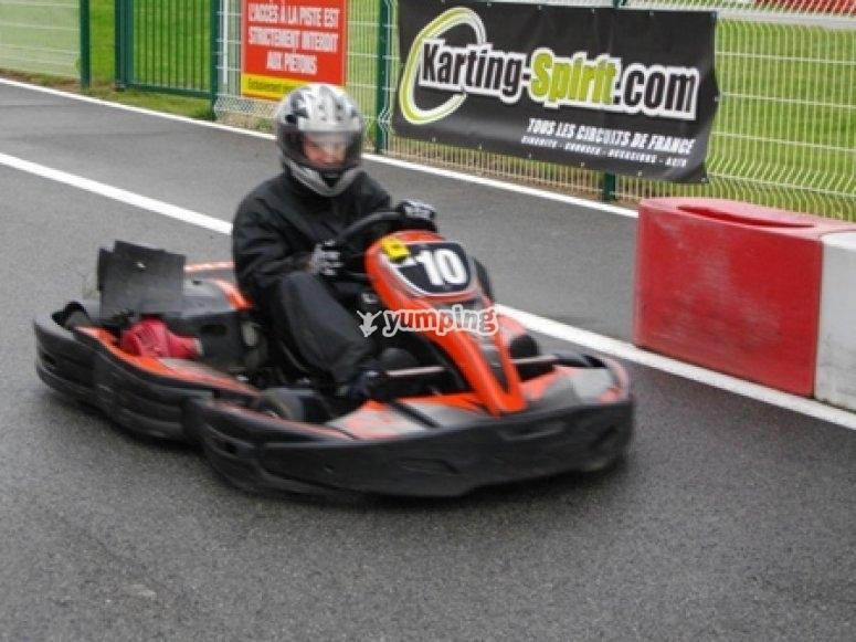 Course et essai au challenge karting