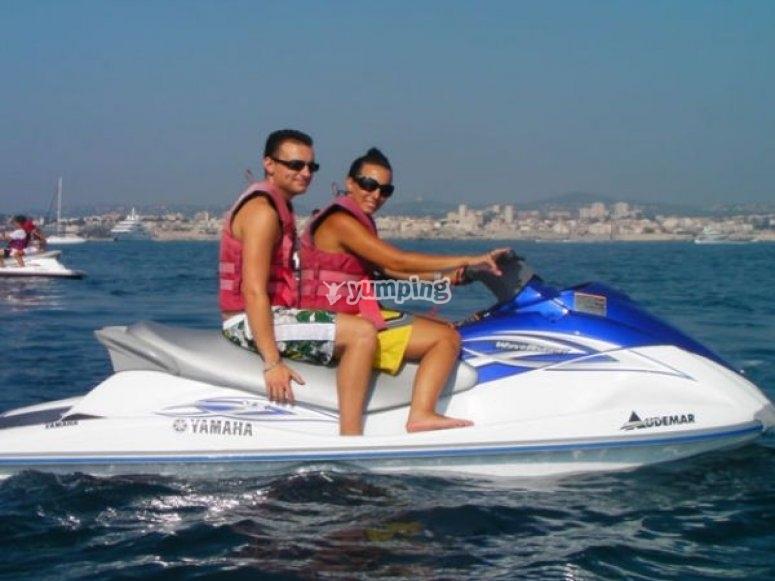 Faire du jetski avec passager a Nice