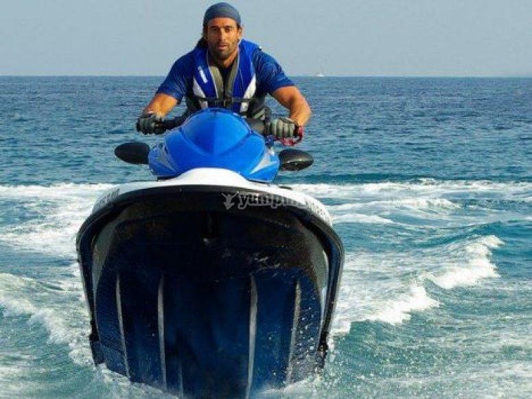Vers les Iles Lerins en jetski